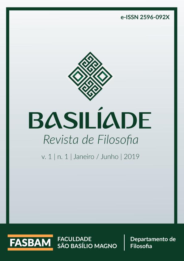 Visualizar v. 1 n. 1 (2019): Basilíade - Revista de Filosofia